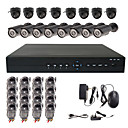 16 canais CCTV Home Security System com 8 Outdoor cmera CCD Sony e 8 interior Sony cmera CCD