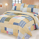 3PCS Patchwork Cotton Queen Size Quilt Set