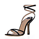 Gorgeous Silk Stiletto Heel Sandals With Buckle Party / Evening Shoes (More Colors)