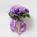 Nice Satin / Cotton Rose Round Shape Wedding Bridal Bouquet