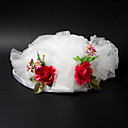 Fashion Satin / Lace With Flower / Cow Vetch Wedding/ Partying/ Honeymoon Hat