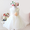 Elegant Sleeveless Satin/Tulle Wedding/Evening Flower Girl Dress