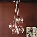 60W Artistic Modern Pendant with 4 Lights in Glass Bubble Design