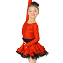 Performance Dancewear Spandex and Tulle with Crystal Latin Dance Dress For Children More Colors