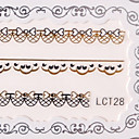 6PCS Nail Art Lace Transparent Nail Stickers No.9 Multi-Styles
