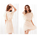 Women's Back Cutout Chiffon Dress