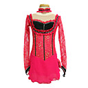 Long-Sleeved Low Collar Figure Skating Clothing Red
