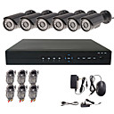 8 Channel H.264 Standalone DVR with 6 Waterproof Outdoor Sony CCD Camera
