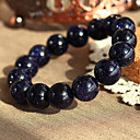 Natural Blue Sandstone Beaded Bracelet