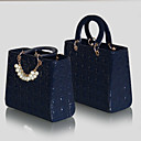 Leuke Vinatage Women's Print Beaded Tote