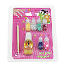 8PCS Nail Art Set(1 Nail Polish+1 Wood Stick+6 Nail Decorations,Random Color)
