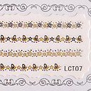 6PCS Nail Art Lace Transparent Nail Stickers No.3 Multi-Styles