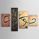 Hand Painted Oil Painting Abstract Set of 4 1303-AB0403