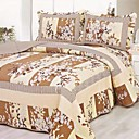 3 PCS Yellow Branches Washed Cotton Quilt Set