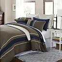 3PCS Grasten Woven Stripe Poly/Viscose Twin/Queen/King Duvet Cover Set