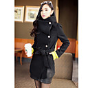 Women's Belted Tweed Pea Coat