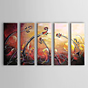Hand Painted Oil Painting Abstract Set of 5 1303-AB0407