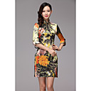Women's Vintage High End Silk Chinese Dress