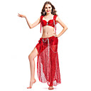 Dancewear Chinlon With Beading/Sequins Belly Dance Outfit For Ladies More Colors