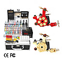 2 Cast Iron Revolver Design Tattoo Gun Kit with LCD Power (40 Color Ink)