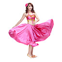 Satin Dancewear Belly Dance Outfit Top y falda para las seoras ms colores