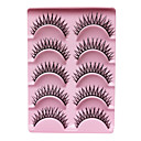 5 Pair Black Handmade False Eyelashes YBK01