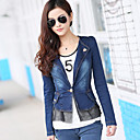 Vrouwen Peplum Jeans Jacket