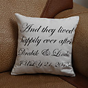 Personalized Four Lines Pillow Case (Pillow not included)