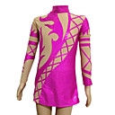 Laser Spandex Elasticated Net Figure Skating Clothing Rose