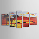 Hand Painted Oil Painting Landscape Set of 5 1211-LS0230