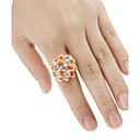 Several Petals Shaped Adjustable Ring