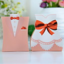 Pink Tuxedo & Gown Favor Box (Set of 12)