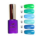 Colorato Glitter UV a colori UV Builder Gel Nail Polish n ° 1 (15 ml, 1pcs, colori assortiti)