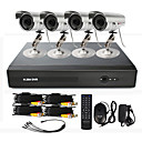 4-Kanal CCTV DVR System (4 Outdoor Wasserdicht Kamera mit 15m Nachtsicht)