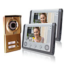 Night Vision 7&quot; Video Door Phone For Neighbours 2 Families Apartments Cheap Set