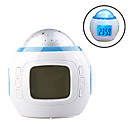 Starry Sky Projector Digital Music Alarm Clock (White, 3xAAA)