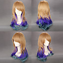 Brown and Purple and Green Gradient 65cm Punk Lolita Wig