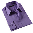 Men 's Fitted Shirt Collar Men Work Purple Long Shirts