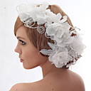 Beautiful Silk Screen And Beads Wedding/Bride Headdress Flower