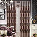 (Two Panels) Traditional Jacquard Floral Energy Saving Curtains