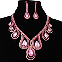 Gorgeous Cubic Zirconia Rhinestones Jewelry Set,Including Necklace And Earrings