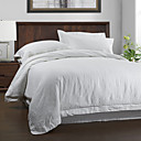 3PCS White Solid Linen Duvet Cover Set