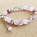 Women's Elegant Lavendar Beaded Natural Stones Bracelet