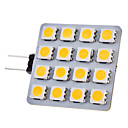 G4 2W 16x5050SMD 150-180LM 3000-3500K Warm White Light LED Spot Bulb (12V)