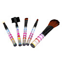 5PCS Fashionable Transparent Colorful Brush Set