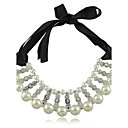 Women's Bilayeres Pearl Diamond Necklace