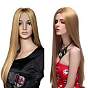 Capless High Quality Synthetic Blonde Long Silky Straight Hair Wigs