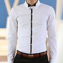 Men 's Small Shirt Collar Men Leisure Cultivate One's Morality Version of White Long Sleeve Shirt