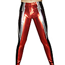 Silver Blades Red and Black Shiny Metallic Pants