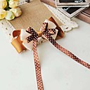 Women's Elegant Coffee Bow Handmade Hair Tie